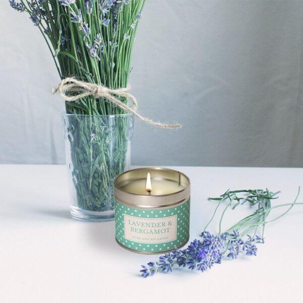 Lavender&Bergamot świeca zapachowa w puszce