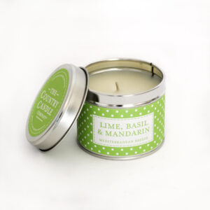 Świeca zapachowa The Country Candle Lime, Basil, Mandarin